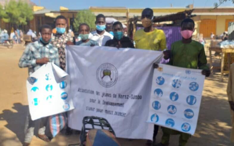 Mongo : l'association des jeunes de Haraze Djombo sensibilise les commerçants contre le covid-19