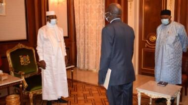 Le président de l'Assemblée nationale centrafricaine reçu par le Chef de l'Etat