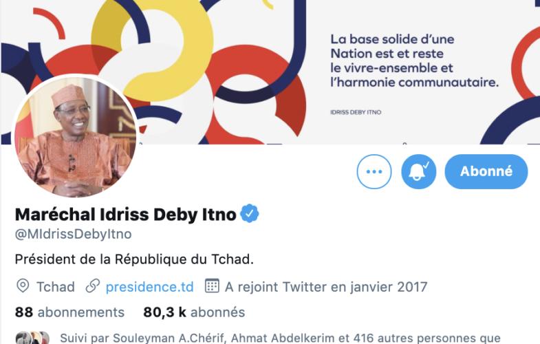 Le compte Twitter du maréchal du Tchad enfin certifié