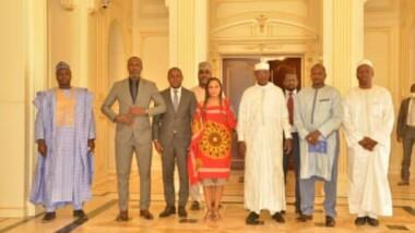 Tchad :   Me Abakar Djarmah, est reçu  par le Maréchal du Tchad