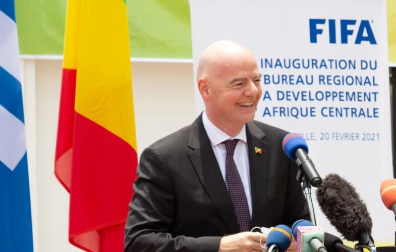 Sport : Gianni Infantino inaugure le nouveau bureau du développement régional de la FIFA  à Brazzaville