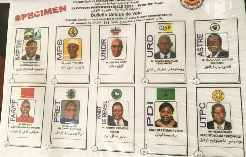Tchad : des spécimens du bulletin de vote remis aux candidats à la présidentielle