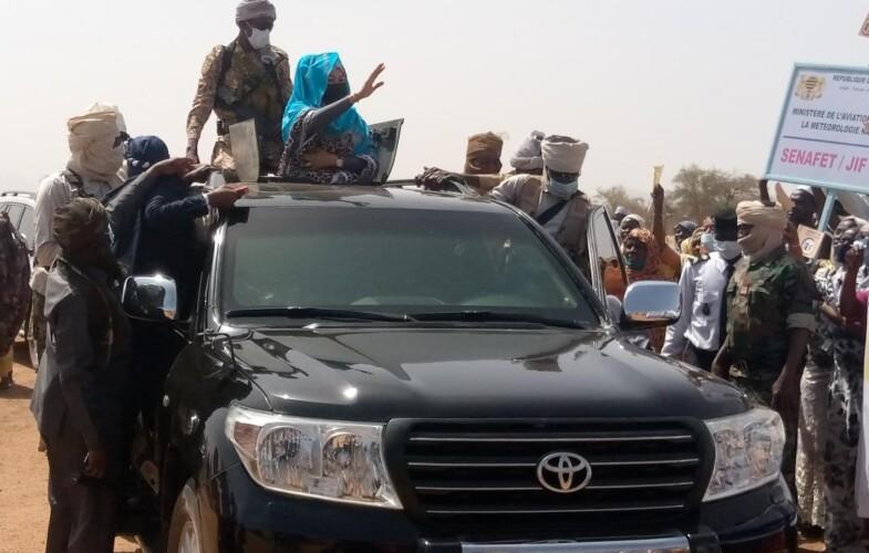 Senafet 2021 : la Première dame du Tchad, Hinda Deby Itno est à Mongo