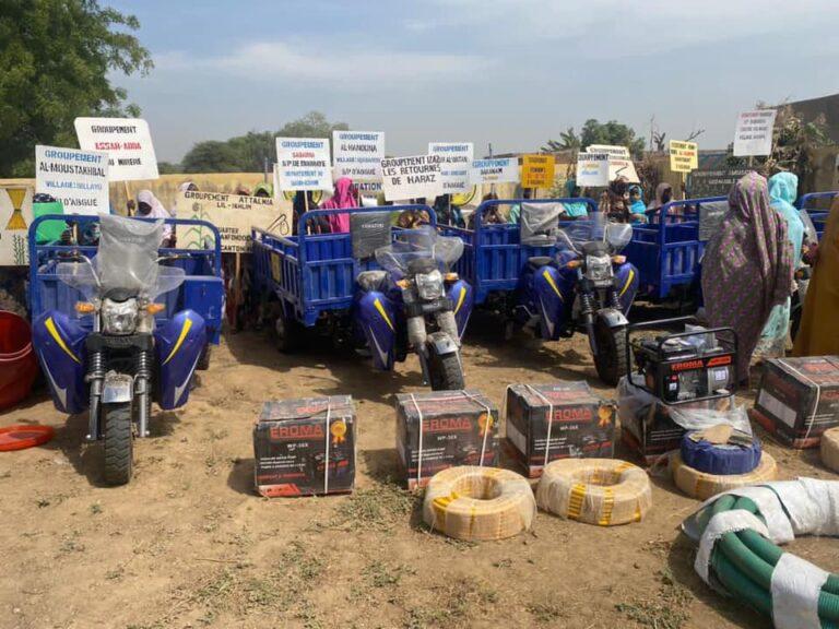 Tchad : La Fondation Grand Cœur fait un don de matériels aux femmes du Salamat