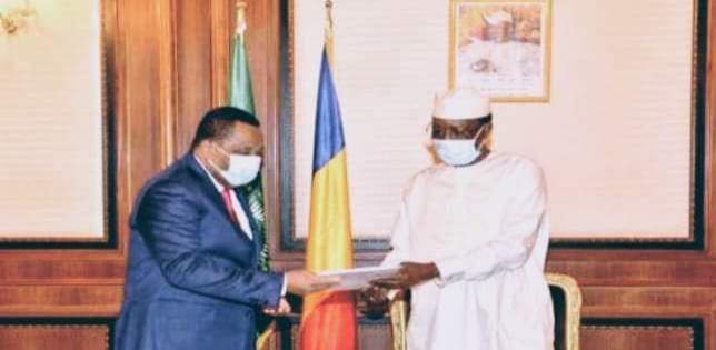 تشاد: رئيس الجمهورية يستقبل وزير خارجية الكونغو برازافيل