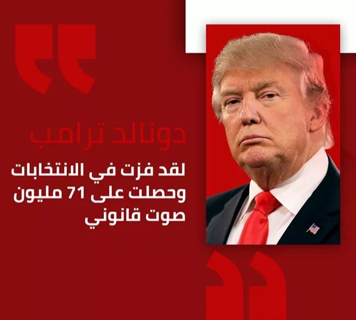 """أمريكا: ترامب عبر تغريدة له في تويتر """"أنا الفائز في الإنتخابات"""""""