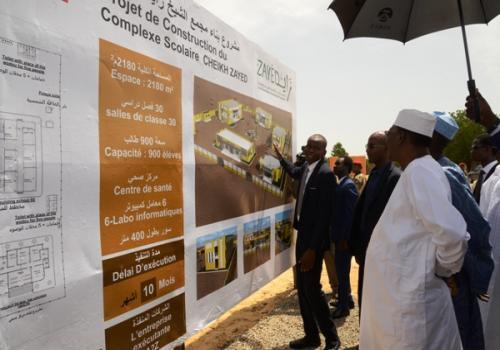 Tchad: le président Déby pose la première pierre de construction d'un complexe scolaire à Guinebor