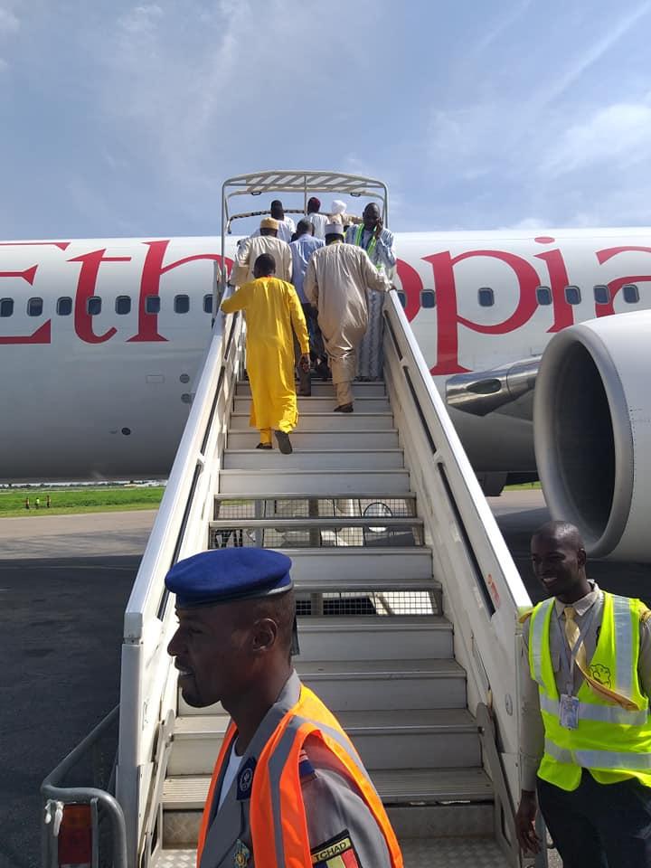Tchad-Hadj 2019 : le premier vol à destination de la ville sainte a quitté N'Djamena ce matin