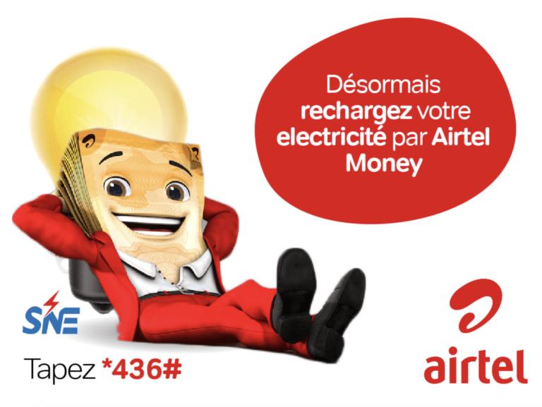 SNE : rétablissement du service de paiement des factures et recharges d'électricité via Airtel Money
