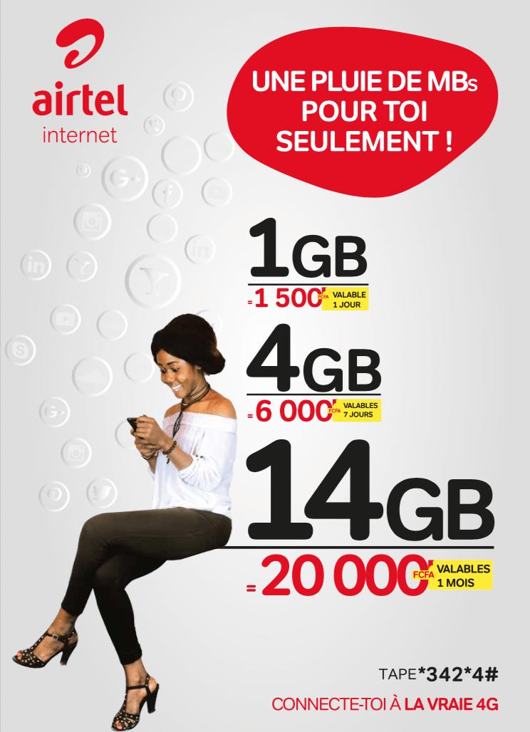 Téléphonie : Airtel Tchad lance la 4G avec 1 giga d'internet à 1 500 FCFA au lieu de 12 000 FCFA