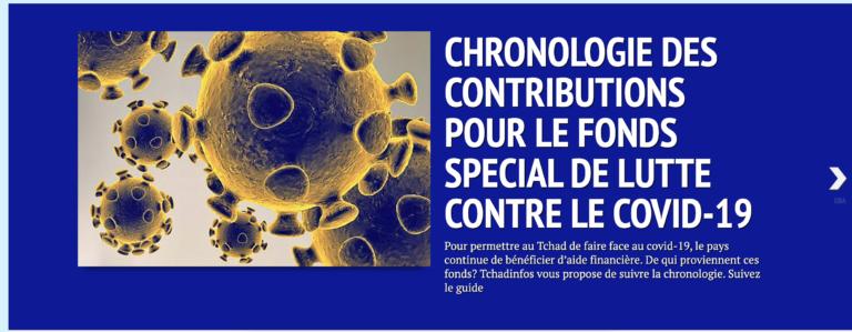 Coronavirus au Tchad: suivez la chronologie d'aides financières des personnes morales