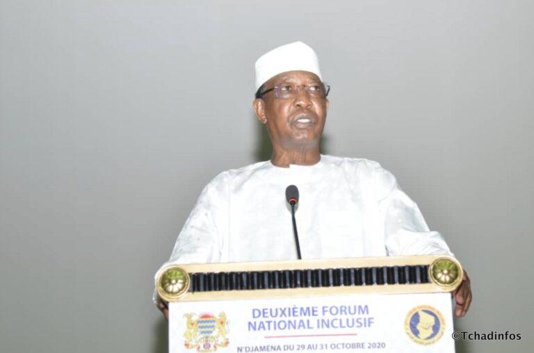 2e Forum national inclusif : Idriss Déby Itno rappelle le caractère inclusif des assises