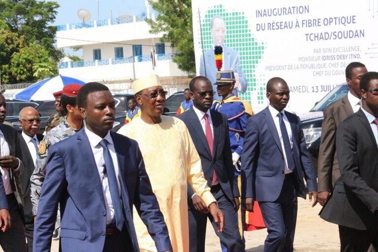 Tchad : le chef de l'Etat inaugure la ligne de la fibre optique Adré-N'Djamena