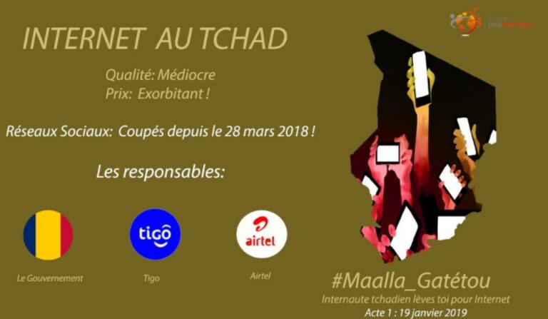 Maalla_Gatétou : les Tchadiens réclament leur liberté sur le web