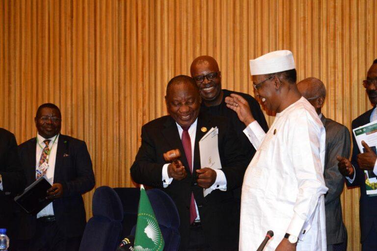 Sommet UA : Idriss Déby passe le flambeau du MAEP à Cyril Ramaphosa
