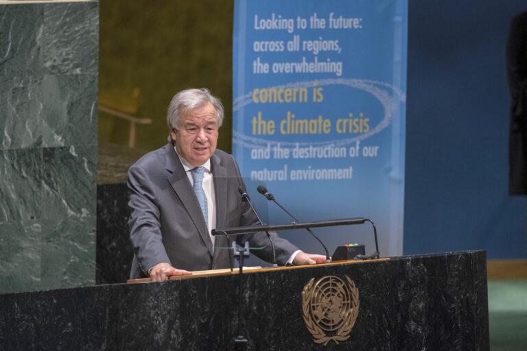 Guterres a souligné que les idéaux des Nations Unies la paix, la justice, l'égalité et la dignité sont les phares pour un monde meilleur