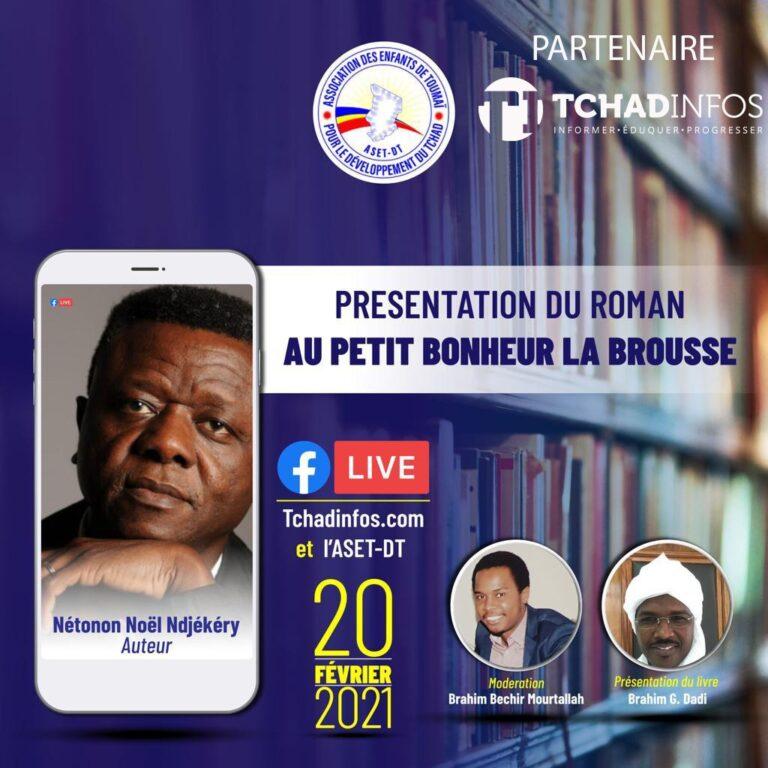 L'écrivain Nétonon Noël Ndjékéry, invité du direct de Tchadinfos & ASED-DT ce samedi 20 février