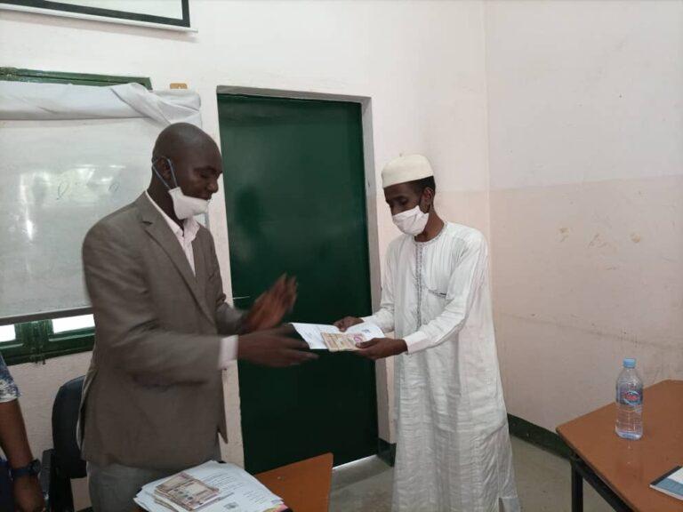 Tchad: 10 millions FCFA remis aux organisations des jeunes œuvrant dans la lutte contre la Covid-19