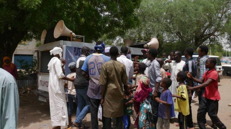 Coronavirus : la plateforme des partis politiques en sensibilisation à N'Djamena