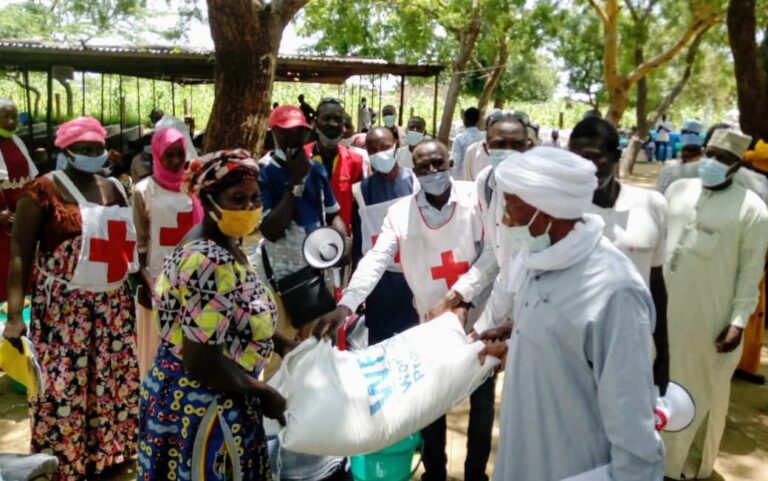 Tchad : le sous comité Assistance aux démunis du comité de gestion de la crise sanitaire fait un don de vivre aux sinistrés de Kabbé