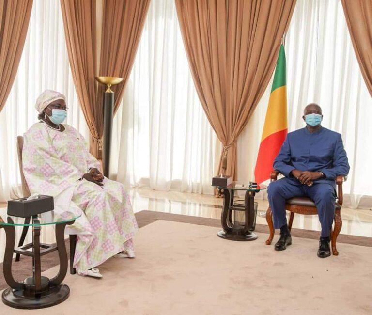 Tchad-Mali : L'Ambassadeur Kalzeubé Neldikingar Madjimta  reçue par le Président de la transition