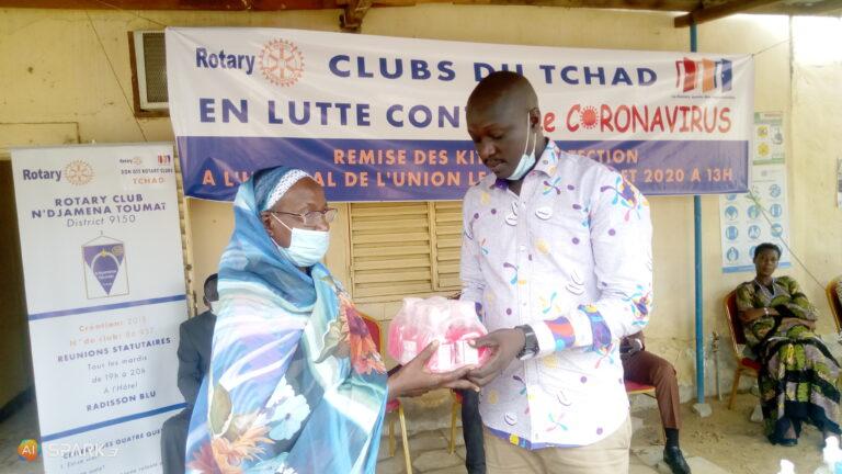 Coronavirus : le Rotary club de N'Djamena assiste l'hôpital de l'Union avec des kits de protection