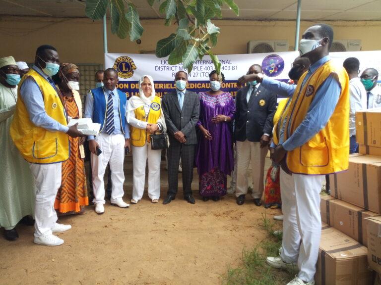 Covid-19 : le  district 403 B1 de   Lions club fait un don  de matériels médicaux au Tchad