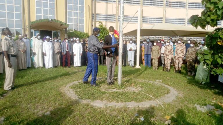 Tchad : Le RJDLT a organisé la levée des couleurs au ministère de la Santé publique