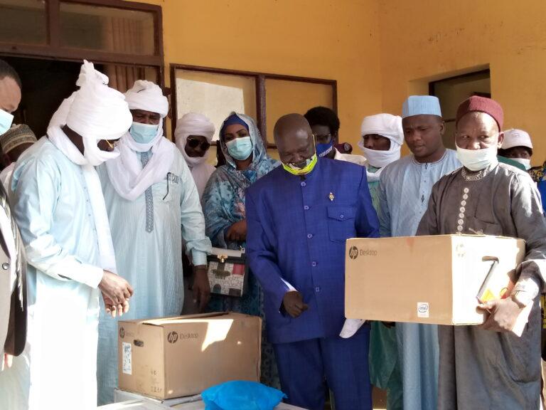 Tchad : l'Adetic fait un don en matériels bureautiques et informatiques à la mairie de Pala