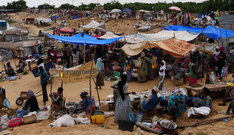 Tchad : après l'inondation, les commerçants du marché de Walia Ngoumna se réinstallent