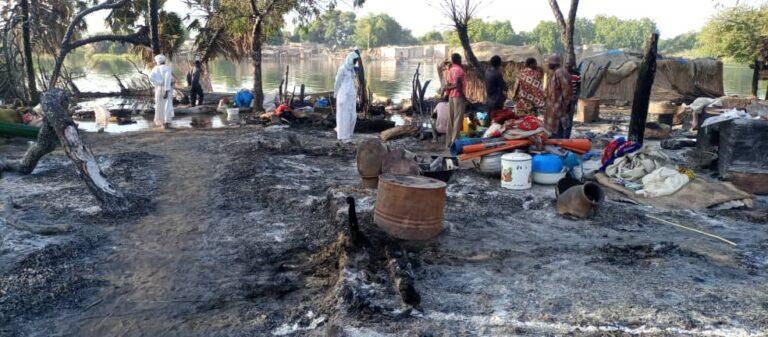 un incendie provoque de lourds dégâts dans le Lac Tchad