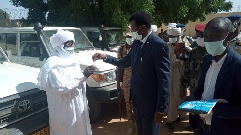 Tchad: remise de véhicules Toyota aux quatre départements de la province du Sila