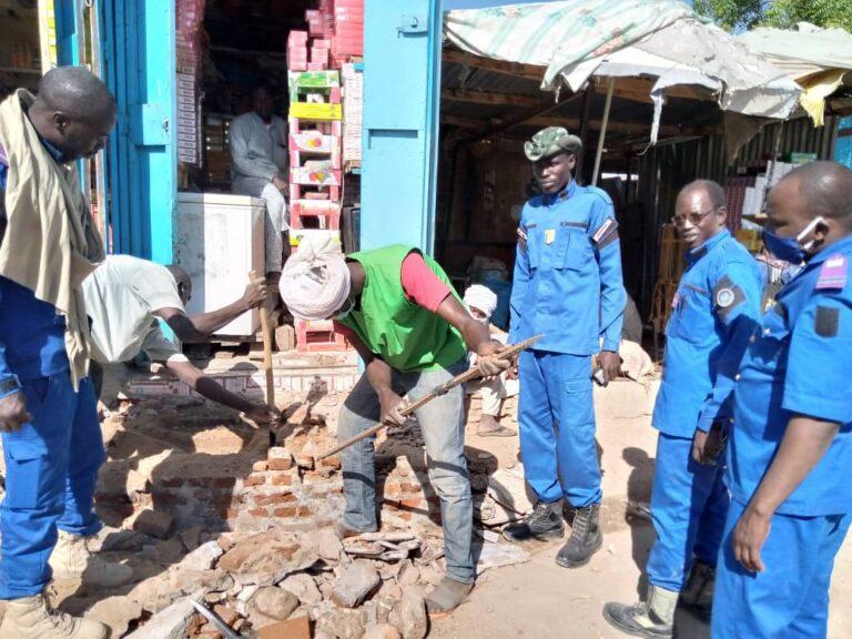 Tchad: opération de déguerpissement au marché central d'Abéché