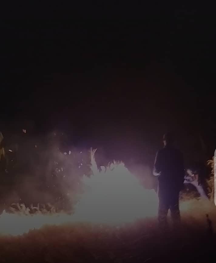 أبشة: حريق مجهول المصدر قام بتدمير حقل زراعي
