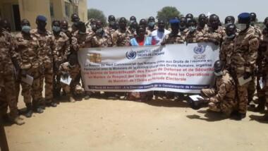 Élection : les éléments du GSIGN à l'école du respect des droits de l'homme