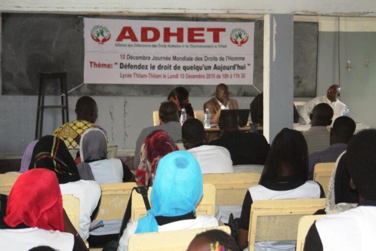 Journée des droits de l'Homme : l'ADHET vulgarise la DUDH au lycée Thilam Thilam
