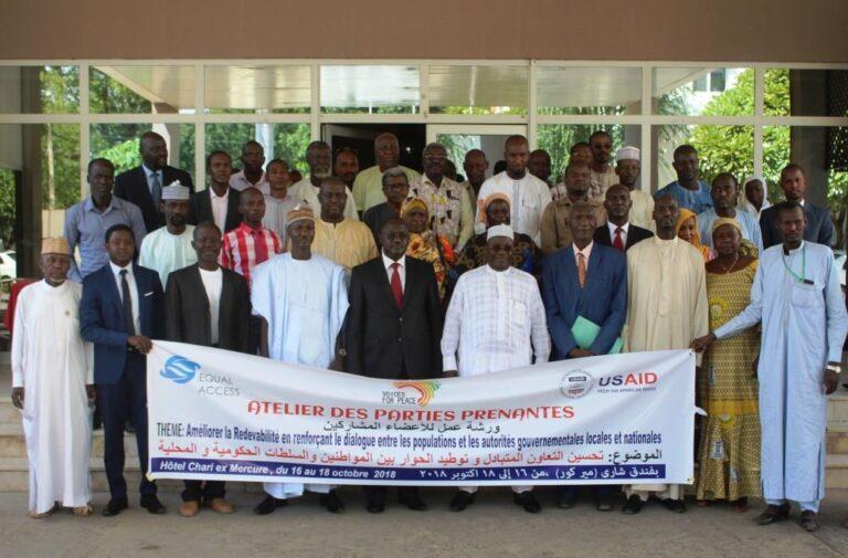 Tchad : renforcer le dialogue entre population et gouvernant au menu d'un atelier