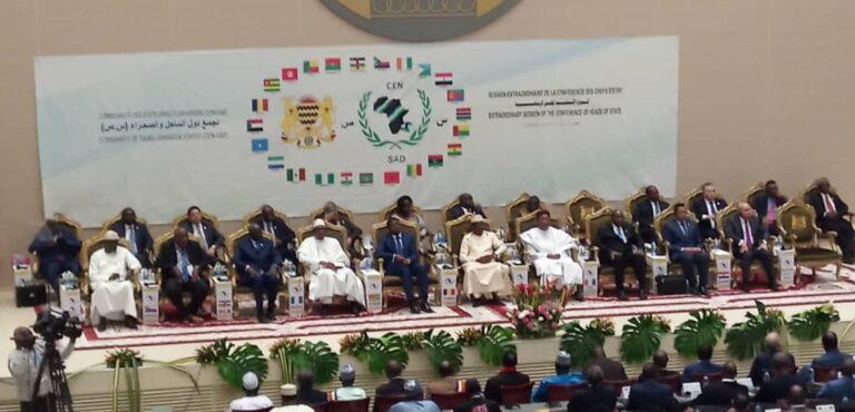 Cen-Sad: ouverture à N'Djamena du sommet extraordinaire consacré à la relance des activités