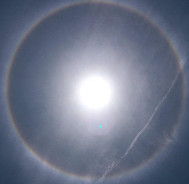 """Tchad : couronne autour du soleil à N'Djamena, un """"phénomène astronomique"""", selon l'Anam"""