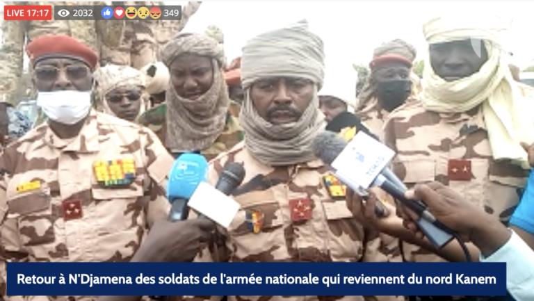 EN DIRECT : retour à N'Djamena des soldats depuis le nord Kanem