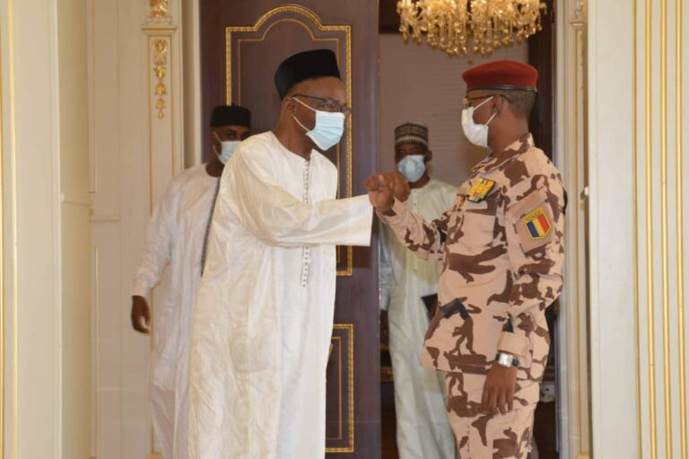 Tchad : Mahamat Idriss Déby reçoit Saleh Kebzabo