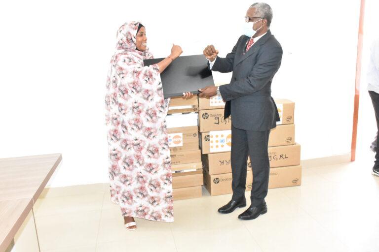 Tchad: neuf ordinateurs remis à la Maison nationale de la femme pour appuyer ses campagnes de sensibilisation
