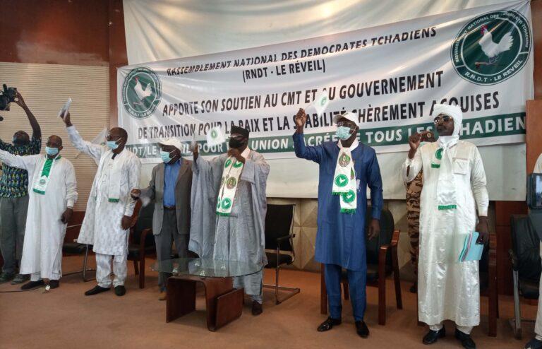 Tchad : le RNDT-Le Réveil organise une manifestation de soutien au CMT et au gouvernement de transition