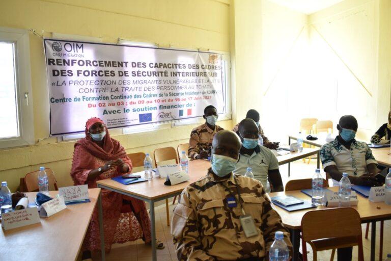 Tchad : 120 cadres des forces de sécurité formés en protection des migrants vulnérables et la lutte contre la traite des personnes