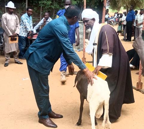 Tabaski : la mairie du 9e arrondissement de N'Djaména offre des moutons à quelques autorités de la circonscription