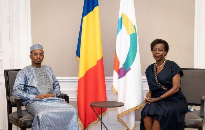 Diplomatie :  Mahamat Idriss Deby a été reçu par la patronne de la Francophonie