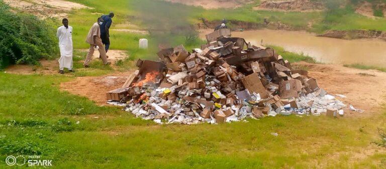 Ati: des produits médicaux expirés de près de 17 millions incinérés