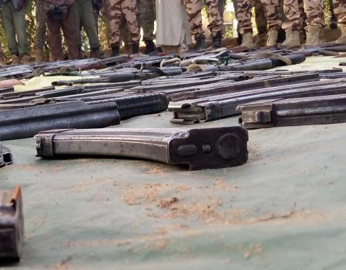 Salamat : une trentaine d'armes de guerre collectées par les autorités